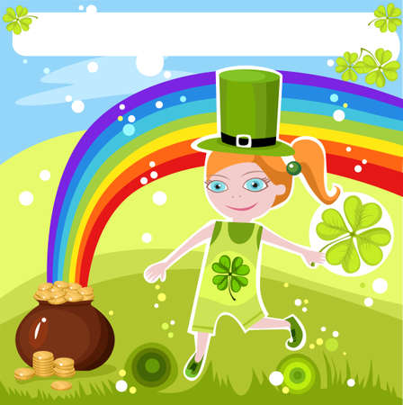st.patricks day card Stock Vector - 6467436