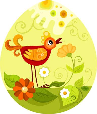 poult: tarjeta de Pascua