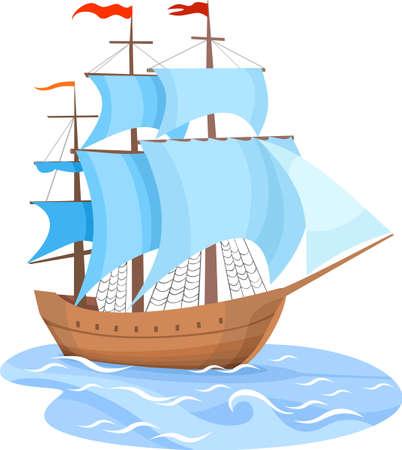 sailing vessel:  Barcos de vela Vectores