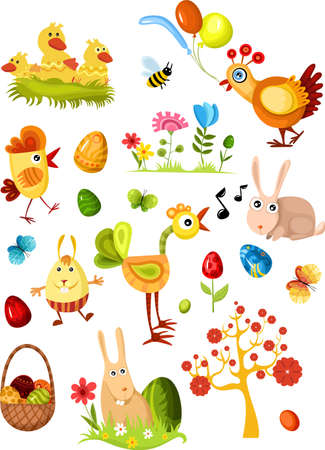 big easter set new Stock Vector - 6667076