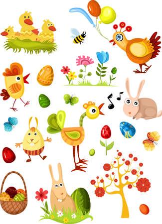 poult:  gran conjunto de Pascua nuevo