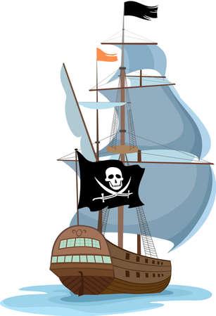pirate ship Stock Vector - 6708677