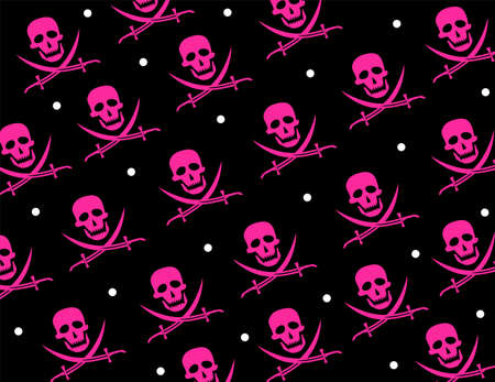 Skull Jolly Roger Repeat Pattern Vector