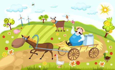 farm Stock Vector - 7059228