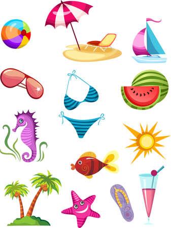 hippocampus: travel icon set
