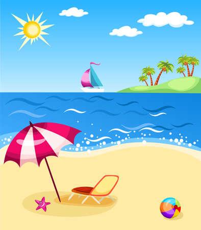 wave tourist: beach Illustration
