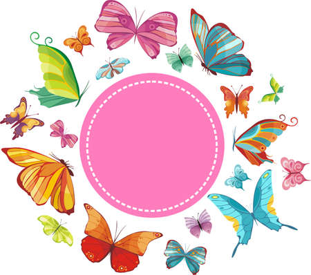butterfly wings: spring card