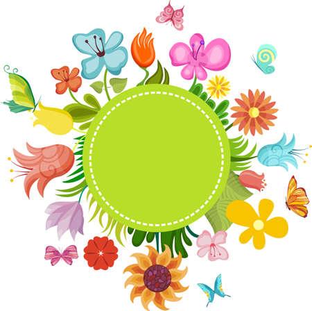 bordures fleurs: carte de la fleur