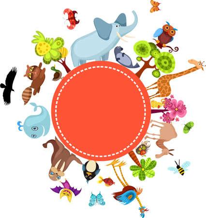 иллюстрировать: животных карты