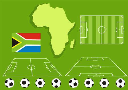 afrika: soccer set Illustration