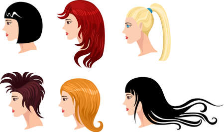hairstyle set Stock Vector - 7156295