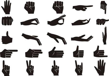 simbolo paz: conjunto de mano