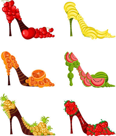 fruit shoes Stock Vector - 7240689