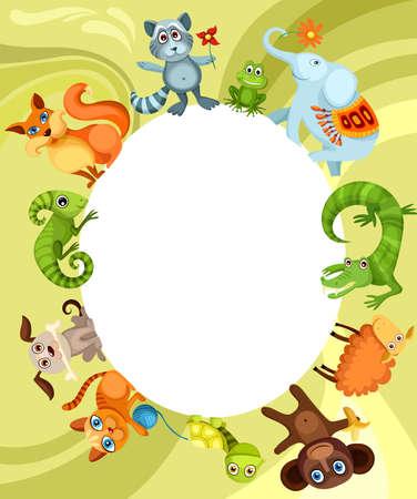 tortuga: tarjeta de animal  Vectores