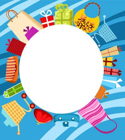 hand cart: tarjeta de compras