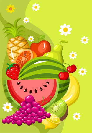 fruit card Vector
