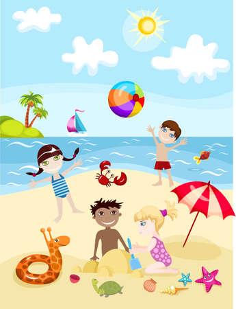 summer card Stock Vector - 7360191