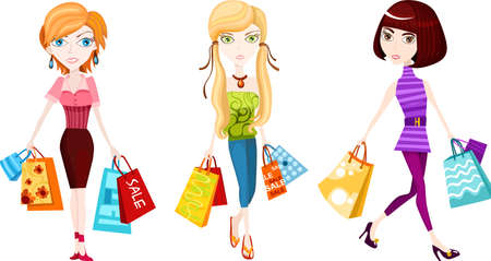 happy shopper: shopping Illustration
