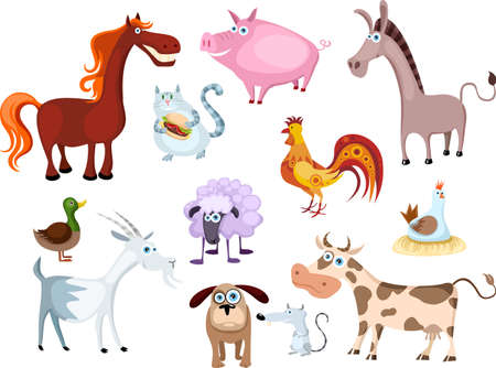 new farm animal set Stock Vector - 7364428