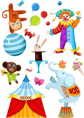 animaux cirque: jeu de Cirque  Illustration