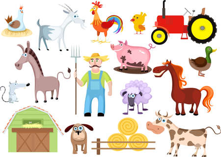 farm set Stock Vector - 7611425