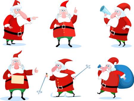 weihnachtsmann lustig: Santa Claus-set