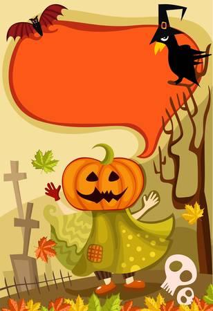 cucurbit: halloween card Illustration
