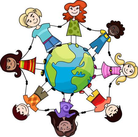 children of the world Stock Vector - 7715048
