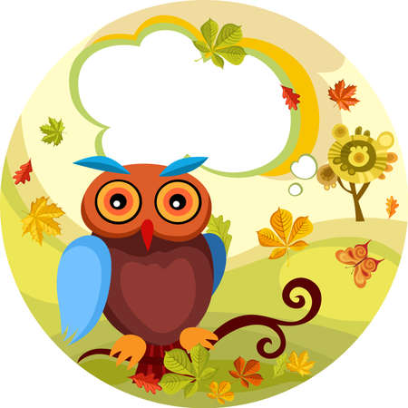 autumn card Stock Vector - 7715051