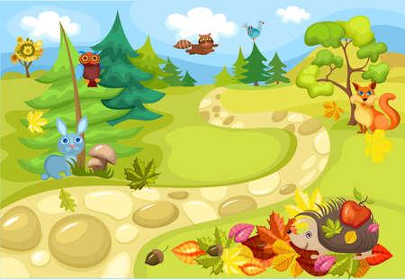 egel: herfst  Stock Illustratie