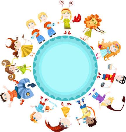 scorpio: children horoscope Illustration