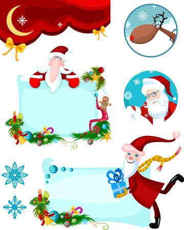 christmas card set Stock Vector - 8192100
