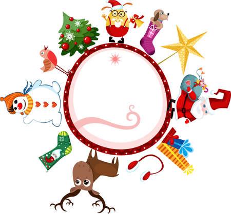 christmas card Stock Vector - 8399370