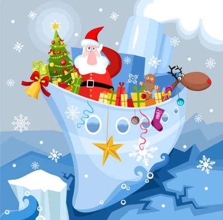 steamship: Kerst kaart