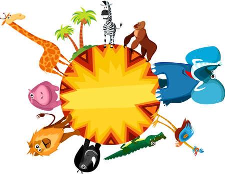 cocodrilo: tarjeta de África