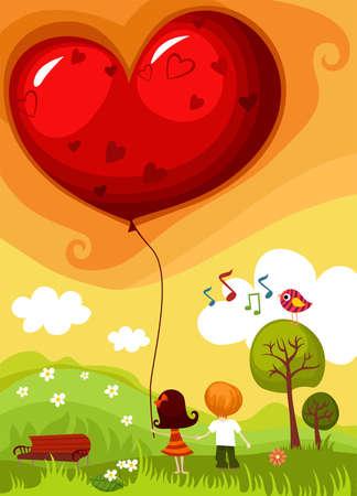 rose tree: valentine card