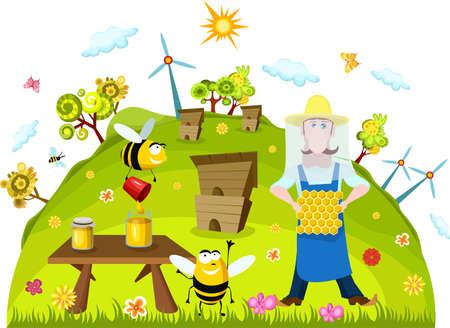 honey comb: farm card
