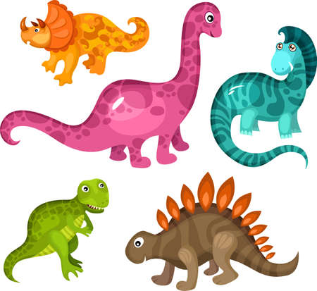 terrific: dinosaur set Illustration