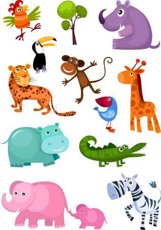 cartoon animal: animal set