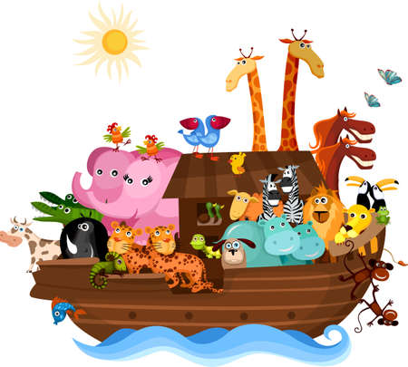giraffe cartoon: Noahs Ark
