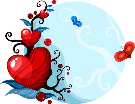valentine card Stock Vector - 8753596
