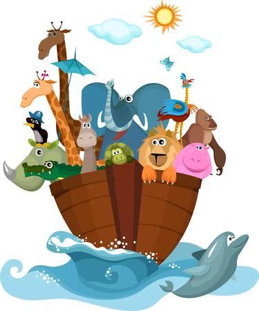 siluetas de elefantes: Arca de Noé
