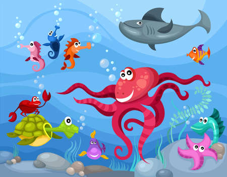 aquatic: sea life Illustration