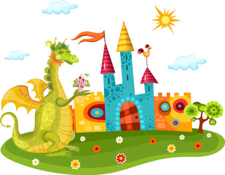 fairytale background: dragon