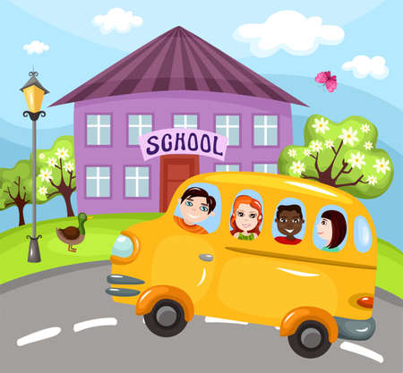 public safety: schoolbus Illustration