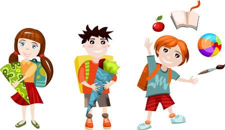 nursery school: school set Illustration