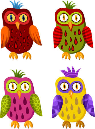 wrapping animal: owl set
