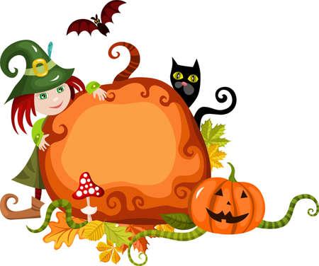 halloween costume: halloween card Illustration