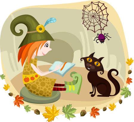 harridan: tarjeta de Halloween