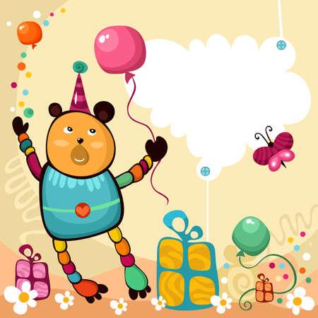 new born baby boy: birthday card Illustration